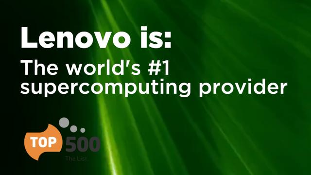 Lenovo Celebrates #1 Vendor for TOP500 HPC Systems in 2020